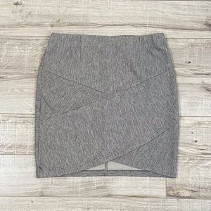 Dynamite Ribbed Grey Stretchy Miniskirt M